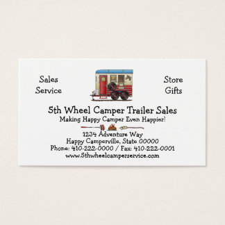 Horse Trailer Camper Business Card