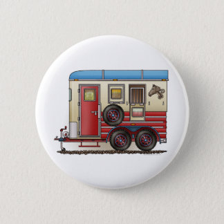Horse Trailer Camper Pinback Button