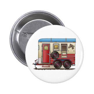 Horse Trailer Camper Pinback Button