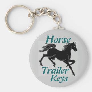 Horse Trailer Keys Keychain