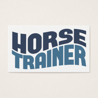 Horse Trainer Business Cards