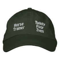 Horse Trainer Embroidered Baseball Cap