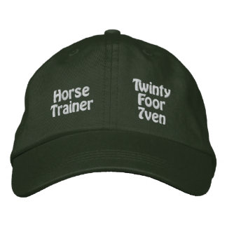 Horse Trainer Embroidered Hat