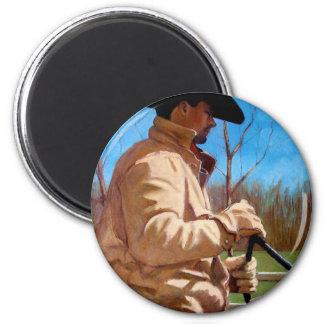 HORSE TRAINER in Pastel 2 Inch Round Magnet