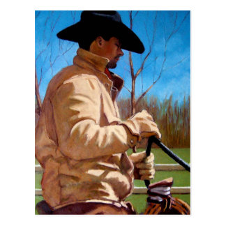HORSE TRAINER in Pastel Postcard
