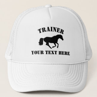 Horse trainer or stableyard trucker hat