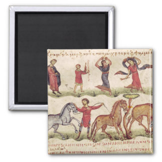 Horse Trainers 2 Inch Square Magnet