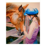 Horse Training The Love of Horses Canvass Print