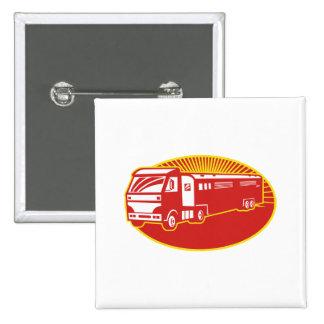Horse Transport Truck Trailer Retro Pins