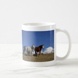 Horse Trio Classic White Coffee Mug