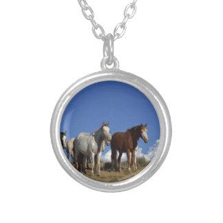 Horse Trio Necklace