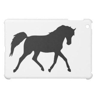 Horse trotting black silhouette ipad case, gift iPad mini case