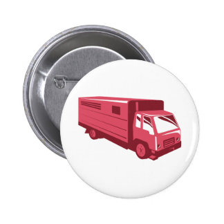 horse truck trailer retro pin