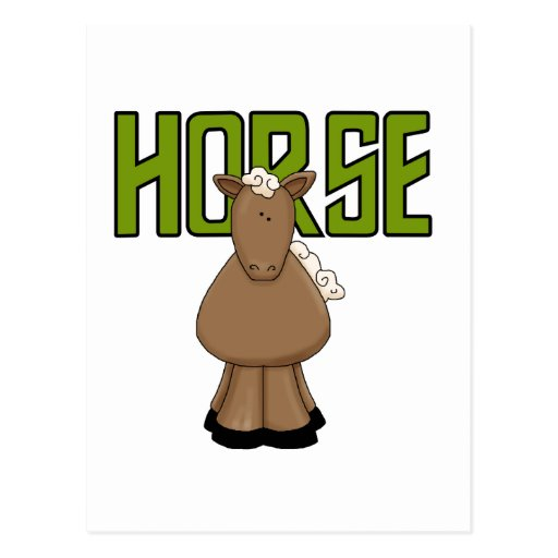 Horse Tshirts and Gifts Postcard