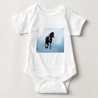 Horse turning suddenly baby bodysuit