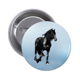 Horse turning suddenly pinback button