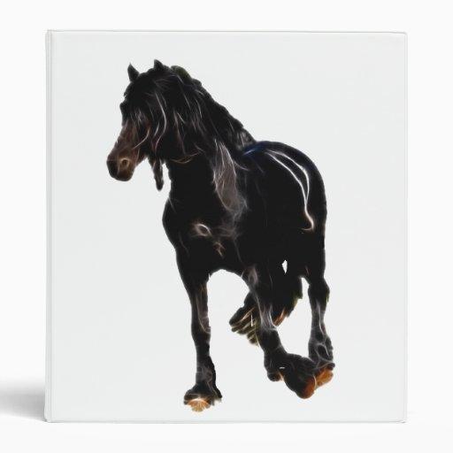 Horse turning suddenly vinyl binder