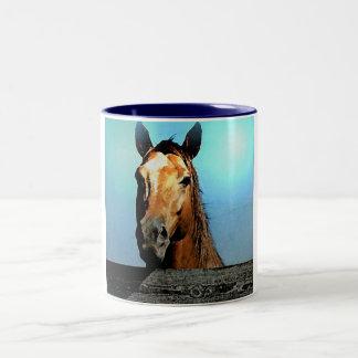 Horse Two-Tone Coffee Mug