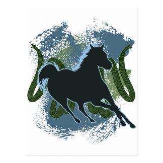 Horse v1 postcard
