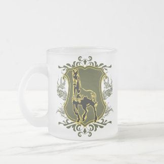 Horse V2 Frosted Glass Coffee Mug