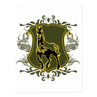 Horse v2 postcard
