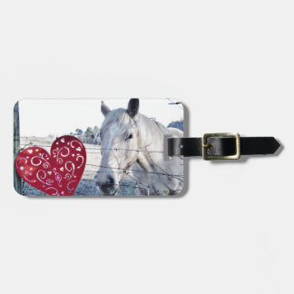HORSE Valentine heart Travel Bag Tags