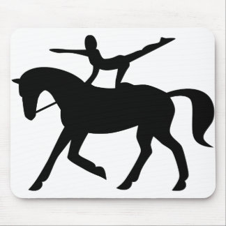 horse vaulting icon mouse pad