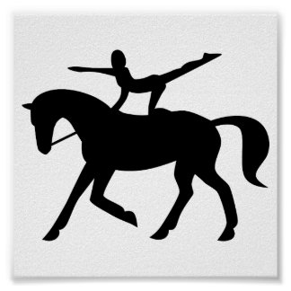 horse vaulting icon poster