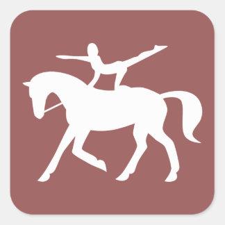 horse vaulting icon square sticker