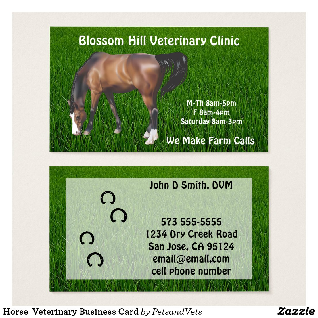 Horse Veterinary Business Card
