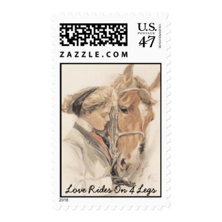 Horse Vintage Postage Stamp