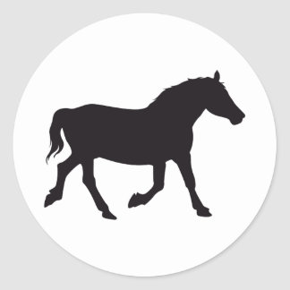 Horse Vintage Wood Engraving Classic Round Sticker