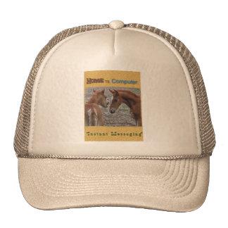 Horse vs. Computer: Instant Messaging Mesh Hat
