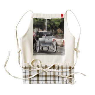 Horse wagon on streets of Melbourne Zazzle HEART Apron