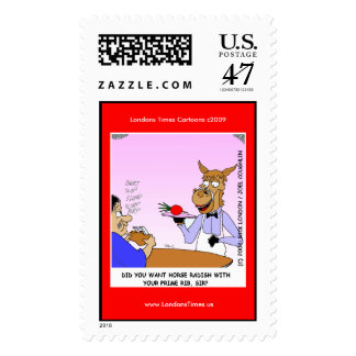 Horse Waiters Funny Cartoom Postage Stamps