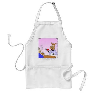 Horse Waiters Funny Cartoon Tees & Gifts Adult Apron