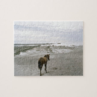 Horse walking on the beach jigsaw puzzle