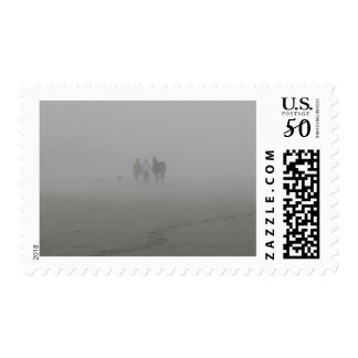 Horse walking on the Beach Postage