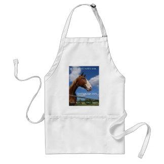 horse walks into a bar adult apron