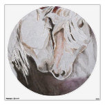 Horse Wall Decal- Watercolor Style, Peach 30x30