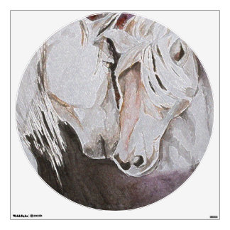 Horse Wall Decal- Watercolor Style, Peach 30x30 Wall Sticker