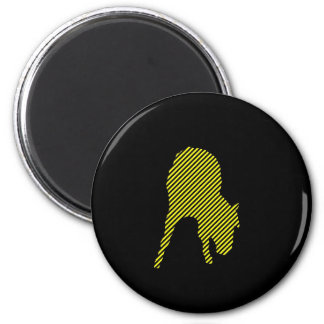 Horse Warning Tape Silhouette Magnet