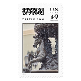 Horse Water Fountain Stamp