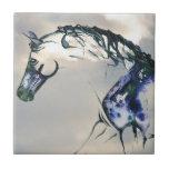 "Horse Watercolor Cloud Tile<br><div class=""desc"">Tennesee Walking Horse head in clouds tile.</div>"