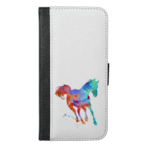 Horse Watercolor iPhone 6/6s Plus Wallet Case
