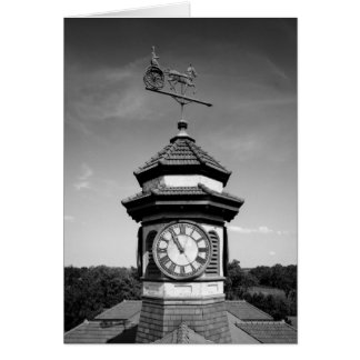 Horse Weather Vane and Clock Tower Card