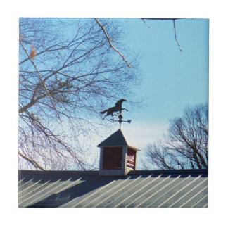 Horse Weather Vane Blue Sky Tile