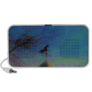 Horse Weather Vane colorful Sky PC Speakers