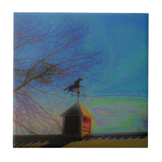 Horse Weather Vane colorful Sky Tile