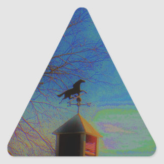 Horse Weather Vane colorful Sky Triangle Sticker